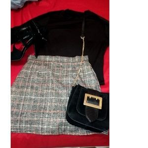 Dresses & Skirts - Wales Check Zip Back Skirt (School girl or classy)